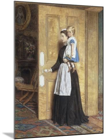 A Nurse with her Charge, 1870-George Goodwin Kilburne-Mounted Giclee Print