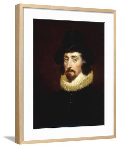 Portrait of Francis Bacon (1561-1626)-George Henry Harlow-Framed Art Print
