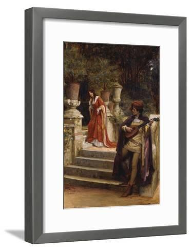 The Minstrel's Lay-George Sheridan Knowles-Framed Art Print