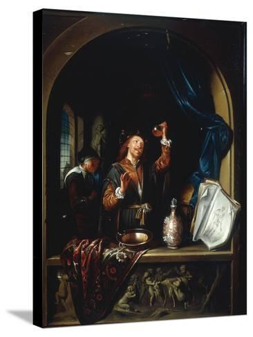 The Physician-Gerard Dou-Stretched Canvas Print