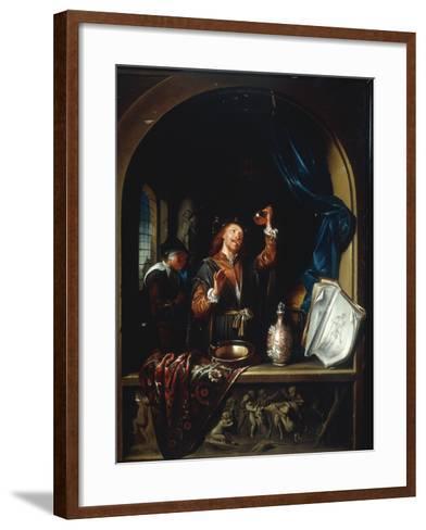 The Physician-Gerard Dou-Framed Art Print