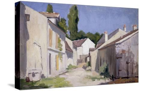 Un Chemin a Yerres, c.1879-Gustave Caillebotte-Stretched Canvas Print