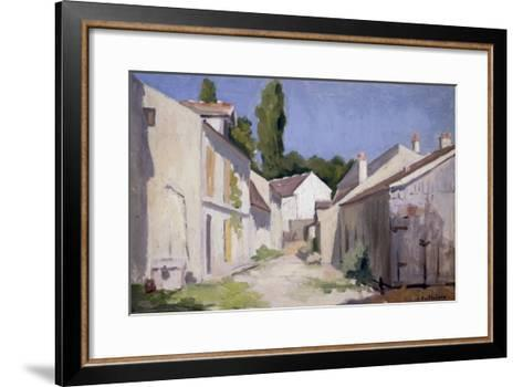 Un Chemin a Yerres, c.1879-Gustave Caillebotte-Framed Art Print