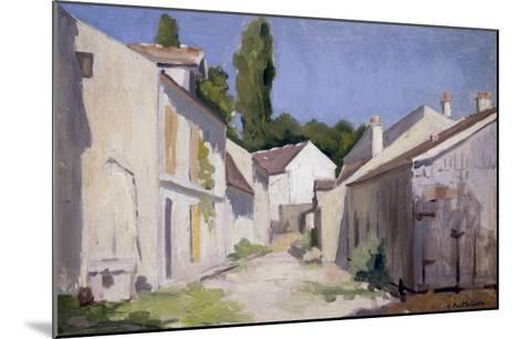 Un Chemin a Yerres, c.1879-Gustave Caillebotte-Mounted Giclee Print