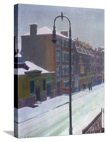 A London Street in Snow, 1917-Harold Gilman-Stretched Canvas Print