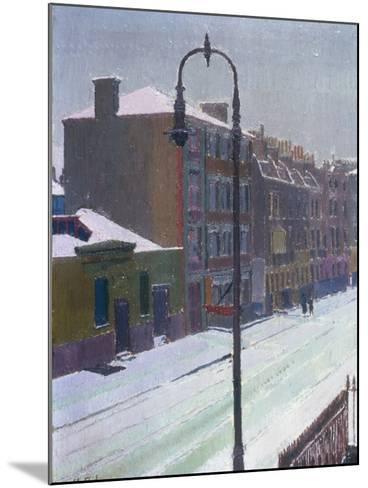 A London Street in Snow, 1917-Harold Gilman-Mounted Giclee Print