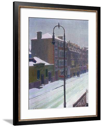 A London Street in Snow, 1917-Harold Gilman-Framed Art Print