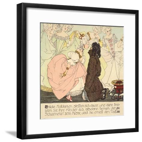 The Princess amnd the Swineherd, 1897-Heinrich Lefler-Framed Art Print