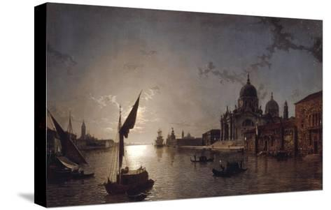 Moonlight on the Grand Canal, Venice-Henry Pether-Stretched Canvas Print