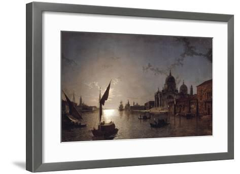 Moonlight on the Grand Canal, Venice-Henry Pether-Framed Art Print