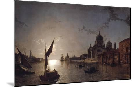 Moonlight on the Grand Canal, Venice-Henry Pether-Mounted Giclee Print