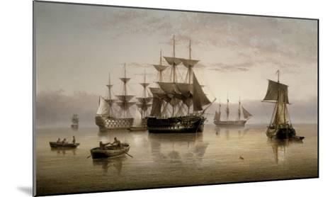 Men-of-War and other Shipping Anchored in a Calm, 1885-Henry Redmore-Mounted Giclee Print