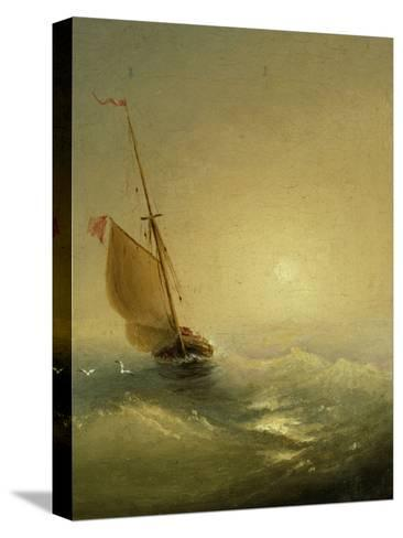 Sailing Barge at Sunset, 1856-Ivan Konstantinovich Aivazovsky-Stretched Canvas Print