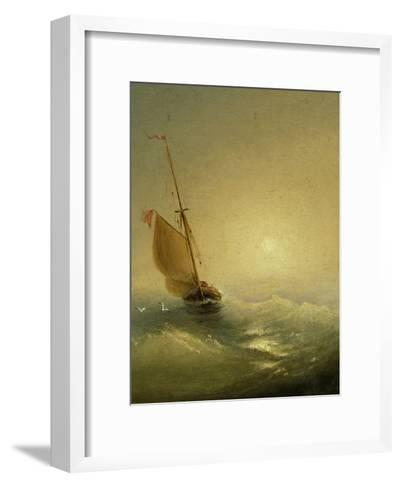 Sailing Barge at Sunset, 1856-Ivan Konstantinovich Aivazovsky-Framed Art Print