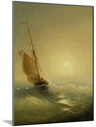Sailing Barge at Sunset, 1856-Ivan Konstantinovich Aivazovsky-Mounted Giclee Print