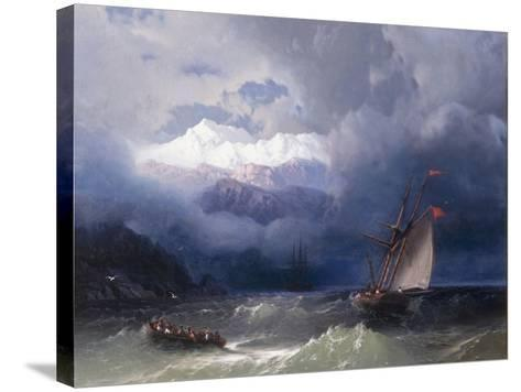 Shipping in Stormy Seas, 1868-Ivan Konstantinovich Aivazovsky-Stretched Canvas Print