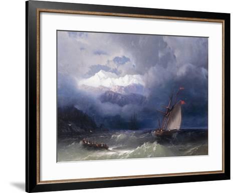 Shipping in Stormy Seas, 1868-Ivan Konstantinovich Aivazovsky-Framed Art Print