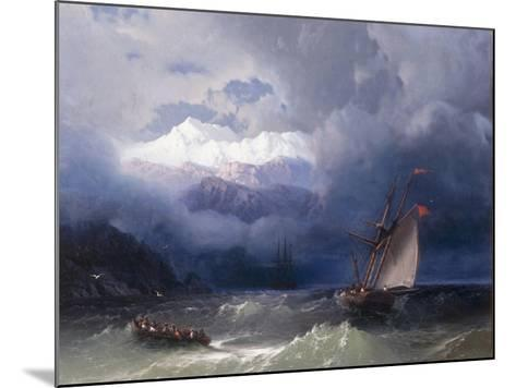 Shipping in Stormy Seas, 1868-Ivan Konstantinovich Aivazovsky-Mounted Giclee Print