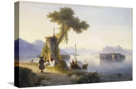 The Isola Bella on Lago Maggiore, 1843-Ivan Konstantinovich Aivazovsky-Stretched Canvas Print