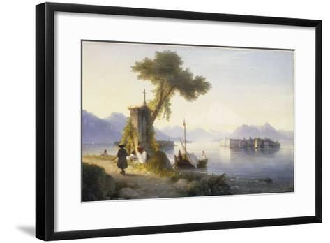 The Isola Bella on Lago Maggiore, 1843-Ivan Konstantinovich Aivazovsky-Framed Art Print