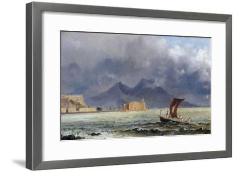 Storm Passing over Vesuvius, c.1840-50-Jacob George Strutt-Framed Art Print