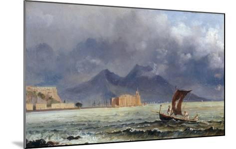 Storm Passing over Vesuvius, c.1840-50-Jacob George Strutt-Mounted Giclee Print