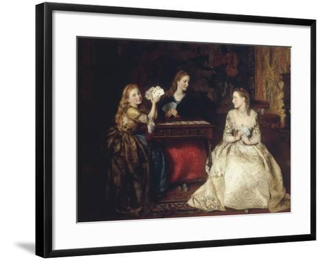 Hearts are Trumps, 1866-James Archer-Framed Art Print