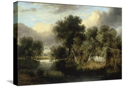 View of Fritton Decoy, Norfolk-James Stark-Stretched Canvas Print
