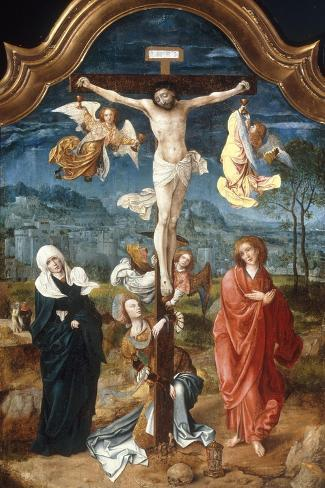 The Crucifixion-Jan De Beer-Stretched Canvas Print