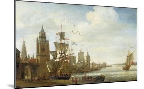 A Capriccio View of the Port of Antwerp-Jan Karel Donatus Van Beecq-Mounted Giclee Print