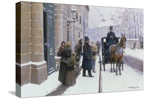 La Sortie du Bourgeois, 1889-Jean B?raud-Stretched Canvas Print