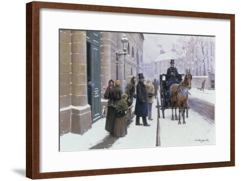 La Sortie du Bourgeois, 1889-Jean B?raud-Framed Art Print