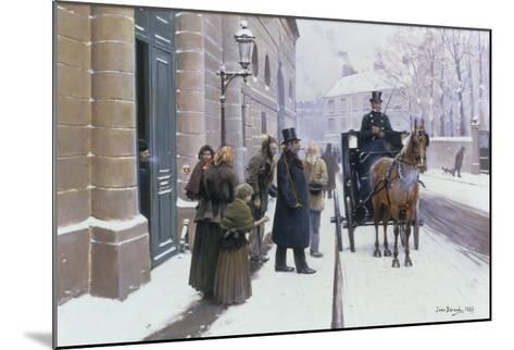 La Sortie du Bourgeois, 1889-Jean B?raud-Mounted Giclee Print