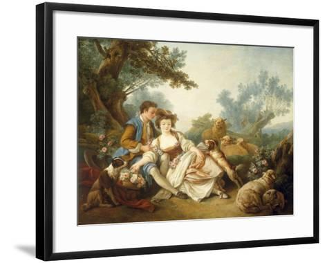 The Basket of Roses, 1785-Jean-Baptiste Huet-Framed Art Print