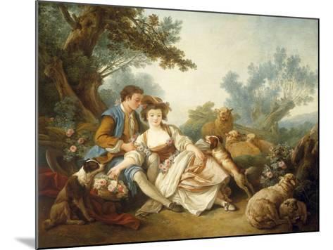 The Basket of Roses, 1785-Jean-Baptiste Huet-Mounted Giclee Print
