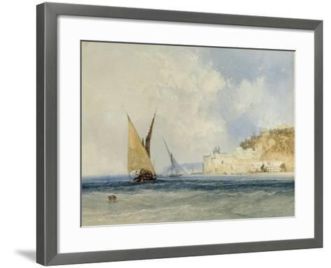 Shipping off the Mediterranean Coast, 1848-John Callow-Framed Art Print