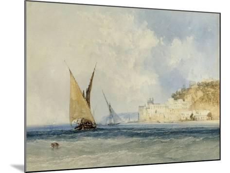 Shipping off the Mediterranean Coast, 1848-John Callow-Mounted Giclee Print