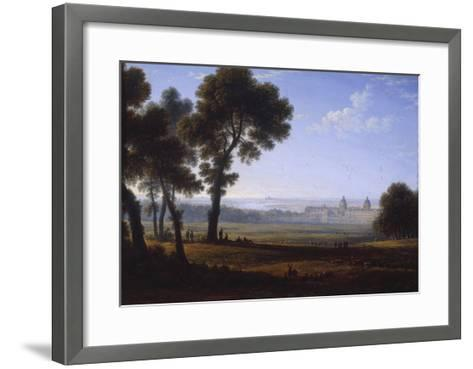 Greenwich Looking Towards the Thames-John Glover-Framed Art Print