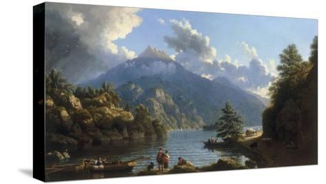 On the Shores of Loch Katrine-John Knox-Stretched Canvas Print