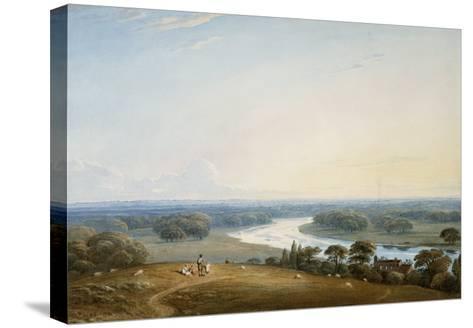 Richmond Hill, Surrey, 1834-John Varley-Stretched Canvas Print
