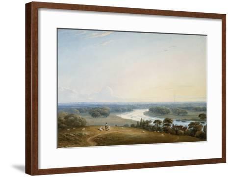Richmond Hill, Surrey, 1834-John Varley-Framed Art Print