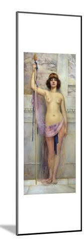 A Baccante Dancer Holding a Thysis, 1863-John William Godward-Mounted Giclee Print