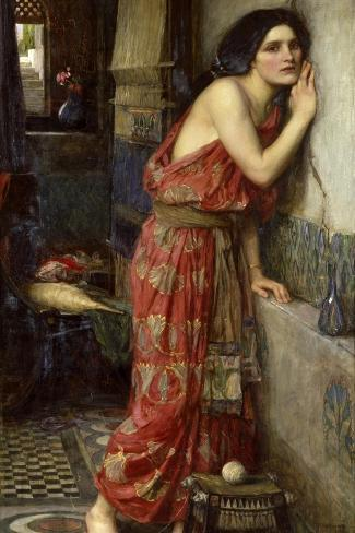 Thisbe' or 'The Listener', 1909-John William Waterhouse-Stretched Canvas Print
