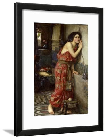 Thisbe' or 'The Listener', 1909-John William Waterhouse-Framed Art Print