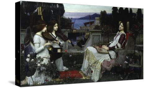 Saint Cecilia-John William Waterhouse-Stretched Canvas Print