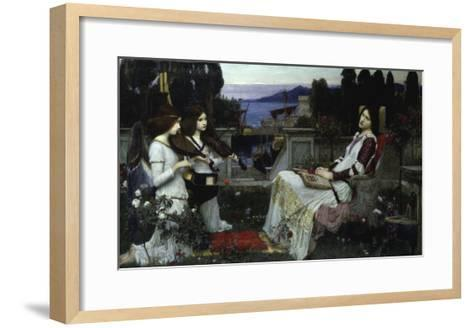 Saint Cecilia-John William Waterhouse-Framed Art Print
