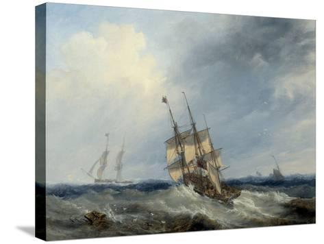 A Blustery Day, 1844-John Wilson Carmichael-Stretched Canvas Print