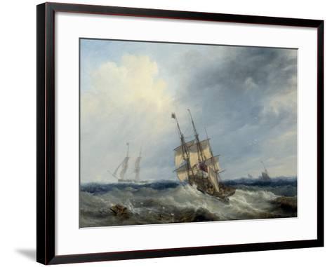 A Blustery Day, 1844-John Wilson Carmichael-Framed Art Print