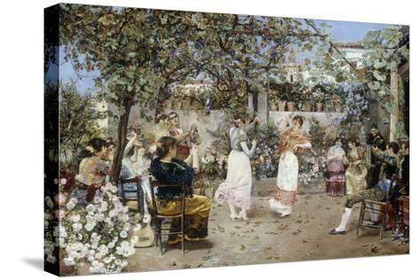 A Fiesta on a Sevillan Terrace, 1891-Jose Gallegos Y Arnosa-Stretched Canvas Print
