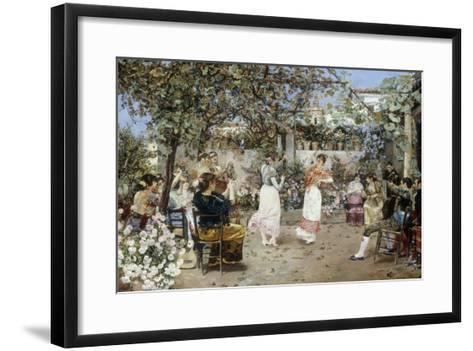 A Fiesta on a Sevillan Terrace, 1891-Jose Gallegos Y Arnosa-Framed Art Print